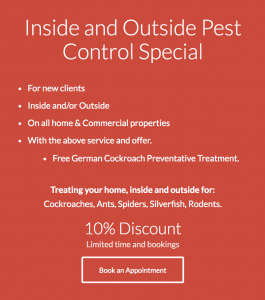 Sydney Pest Control Offer